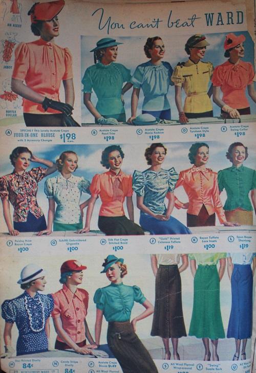 blusas sombreros y faldas de 1938