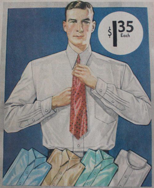 camisas w/cuello 1935