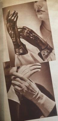 guantes de cuero 1938