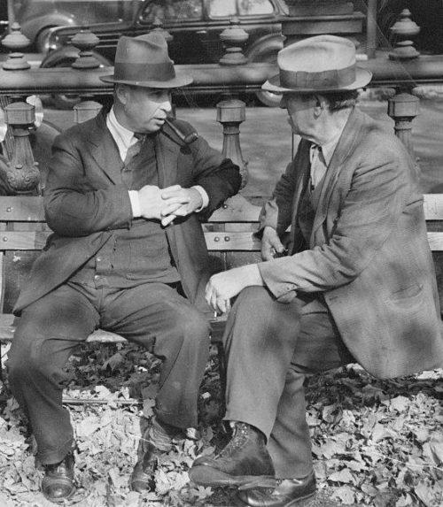 hombres en el parque 1938