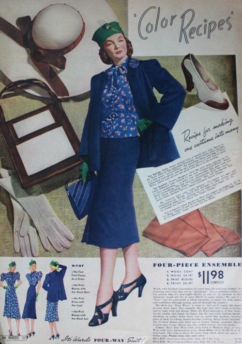 moda y accesorios de 1938