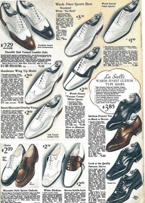 oxfords blancos 1935