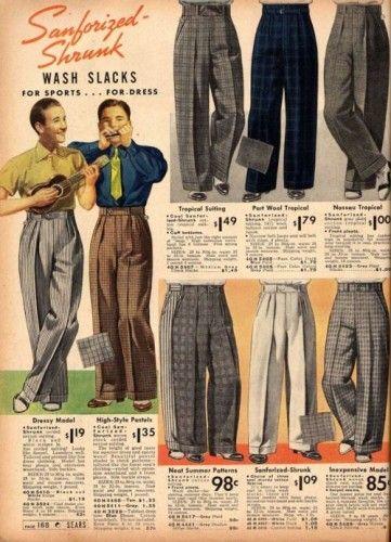 pantalones ropa lindy hop hombre 30s 2