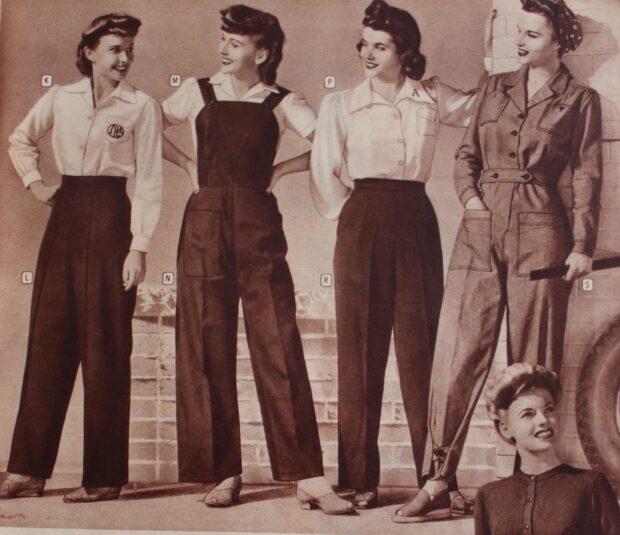 pantalones y faldas lindy hopmujer 30s 1