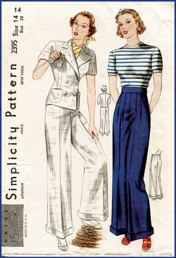 pantalones y faldas lindy hopmujer 30s 7