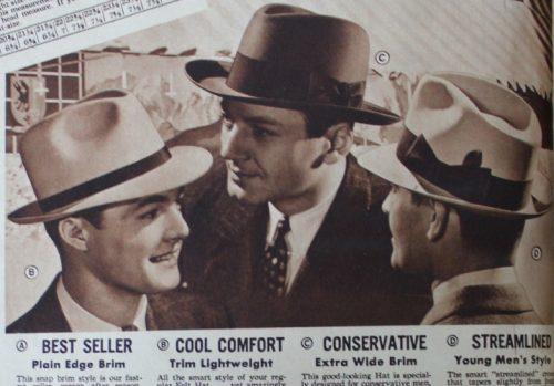 sombreros fedora y homburg
