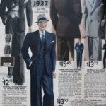 traje azul masculino