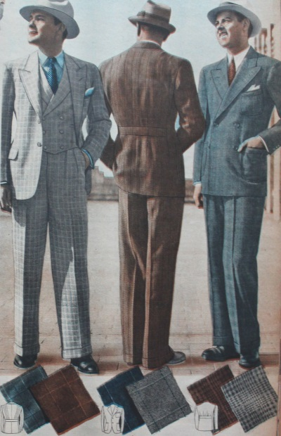 trajes de hombre 1937
