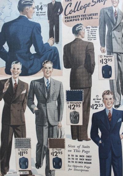 trajes de hombre College