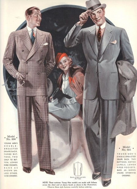 trajes de moda 1935