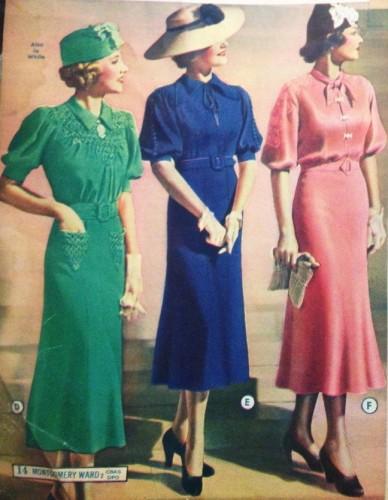 vestidos de tarde de 1937