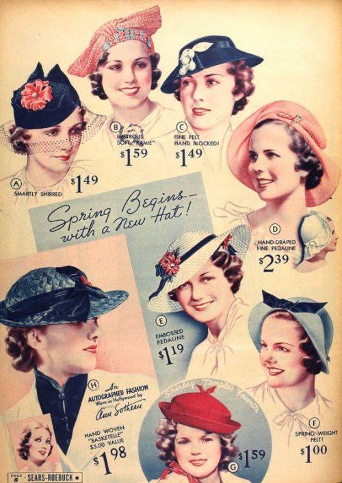 sombreros finales años 30