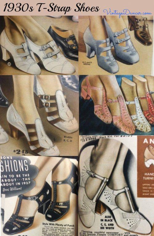 zapatos w/correas años 30