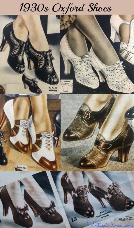 zapatos oxford años 30