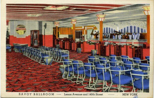 Postal del Savoy Ballroom 1941