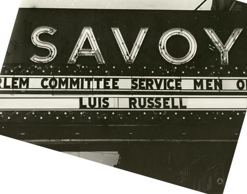 1944 Savoy Ballroom inferior marquesina