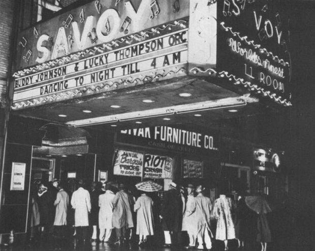 1950s Savoy Ballroom marquesina de entrada