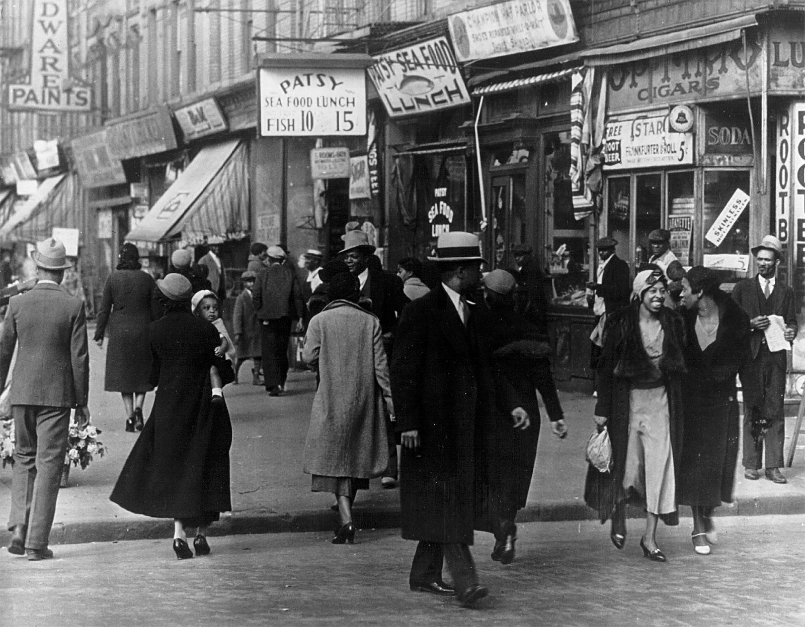People Harlem New York City 1942