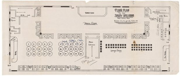 Plano del Savoy Ballroom
