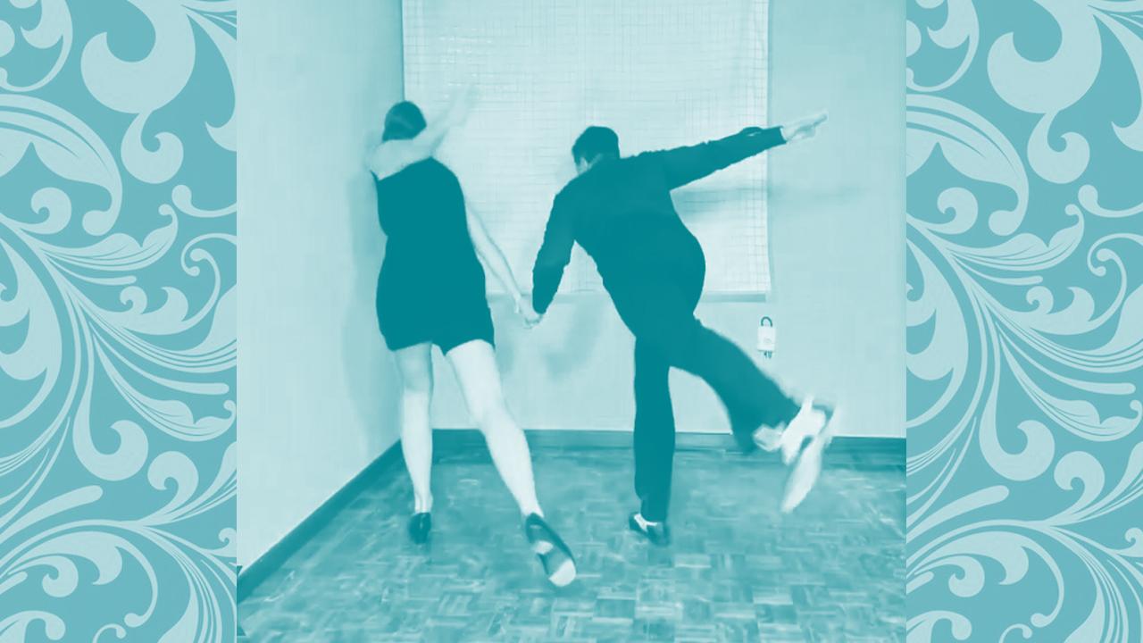lindy hop kick away